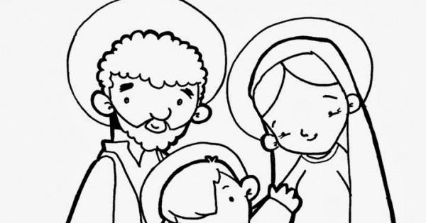Sagrada Familia Para Colorear E Imprimir Dibujos De La Sagrada