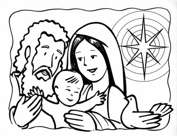 Ensinanzaere  Colorear La Sagrada Familia