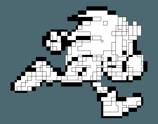 Dibujo De Sonic Cuadrado Para Colorear