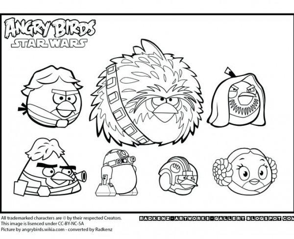 Imagenes Para Colorear De Angry Birds Star Wars