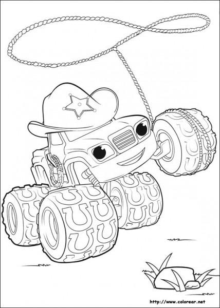 Dibujos Para Colorear De Blaze Y Los Monster Machines