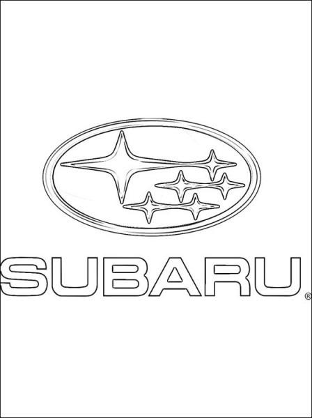 Dibujo Con El Logo Subaru Para Pintar