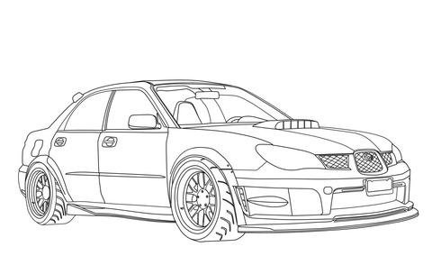 Dibujo De Subaru Impreza Wrx Sti Para Colorear