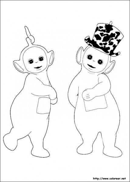 Dibujos De Los Teletubbies Para Colorear En Colorear Net