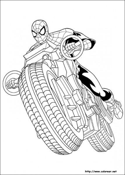 Dibujos Para Colorear De Ultimate Spider