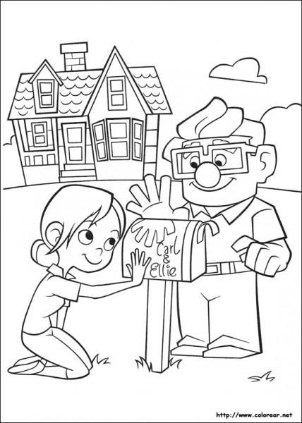 Dibujos Para Colorear De Up, Una Aventura De Altura