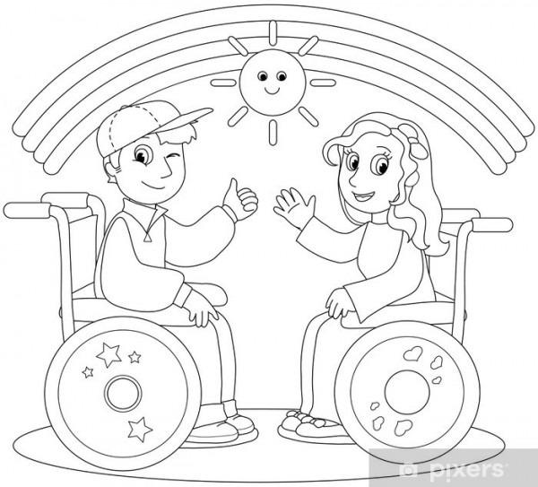 Vinilo Pixerstick Colorear La Ilustración De La Sonrisa De Niño Y