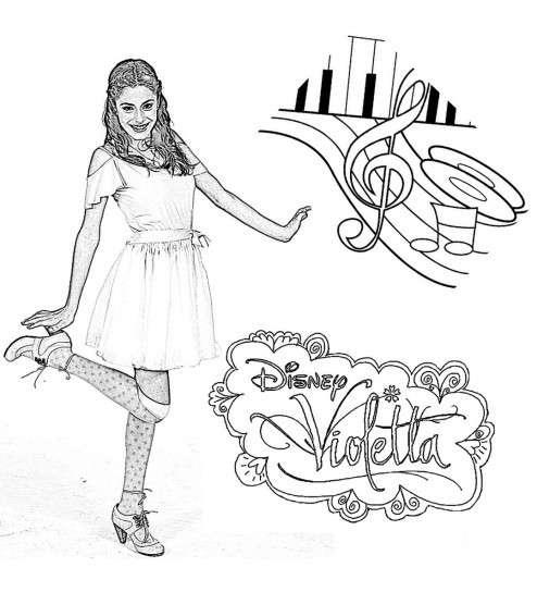 Violetta  Fotos Dibujos Para Colorear (foto)