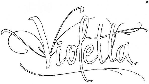 Dibujos Para Colorear Violetta