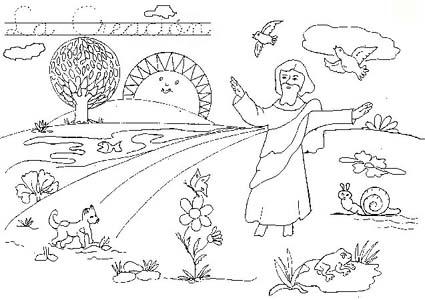 Dibujos Sobre La Creacion De Dios Para Niños