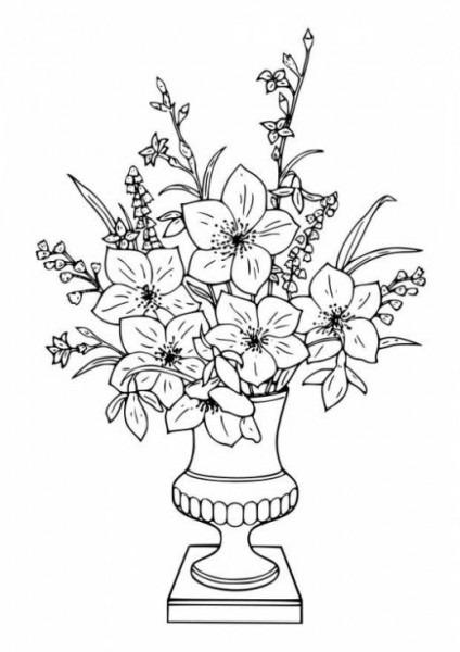 Dibujo De Ramos De Flores Para Colorear  Dibujos Infantiles De