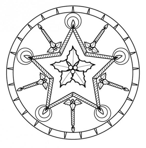 Mandala De Navidad  Dibujo Para Colorear E Imprimir