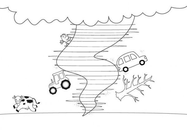 Tornado  Dibujo Para Colorear E Imprimir