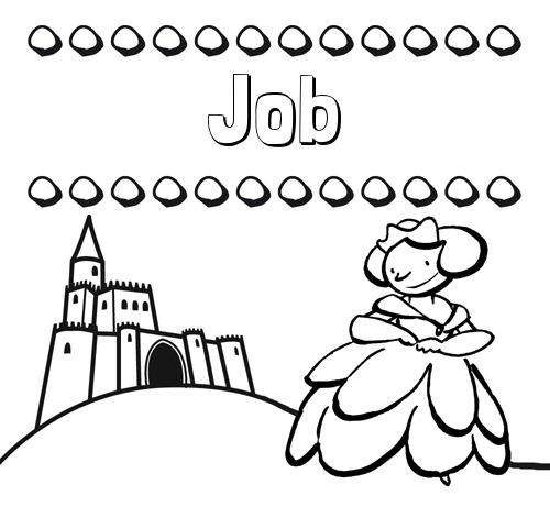Nombre Job  Dibujos Para Colorear Su Nombre Y Una Princesa