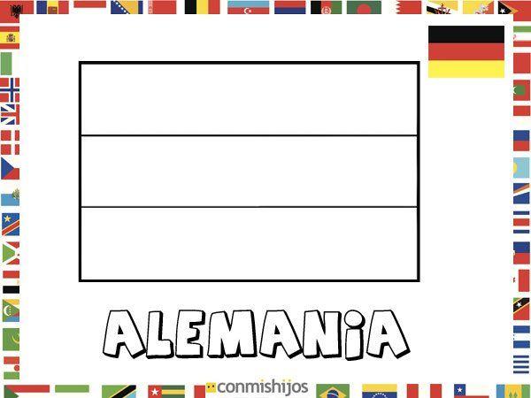 Bandera De Alemania  Dibujos De Banderas Para Pintar