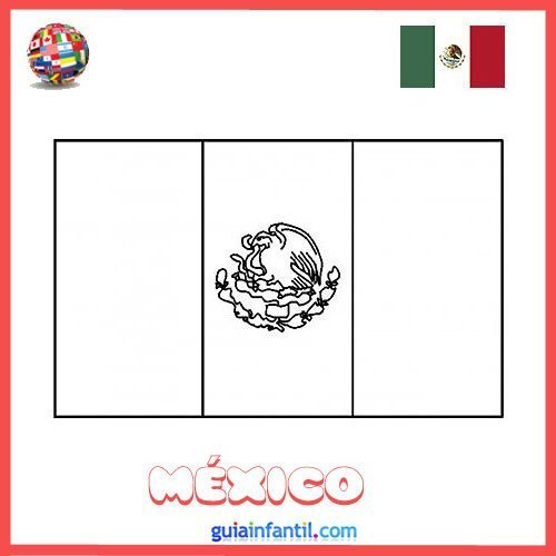 Dibujo De La Bandera De México Para Colorear E Imprimir