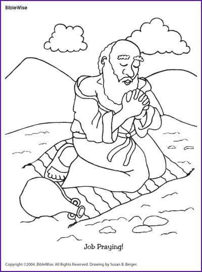 Coloring (job Praying)