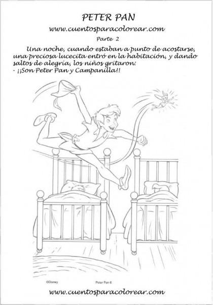 Cuento Para Colorear, Pintar E Imprimir De Peter Pan 1