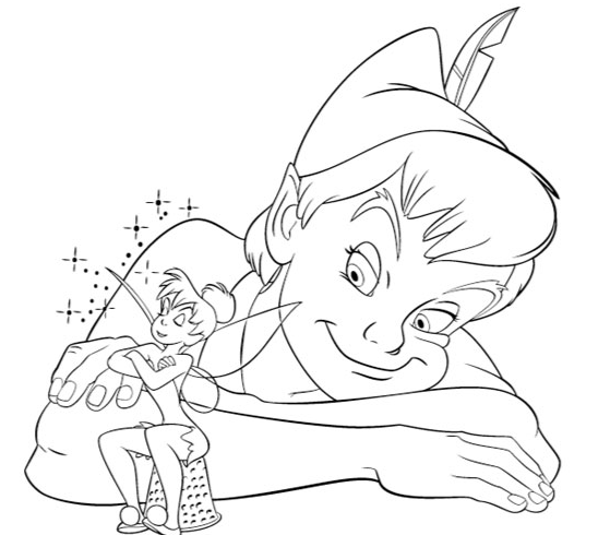 Colorear Cuentos  Peter Pan