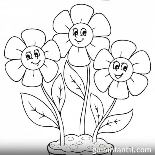 Dibujo De Flores De Primavera Para Colorear