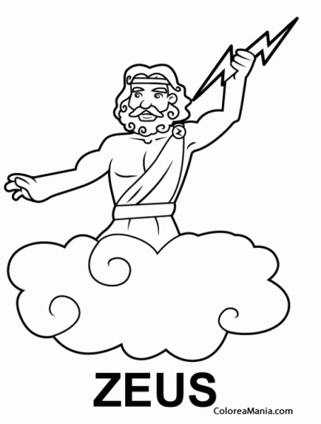 Dibujo De Zeus Para Colorear