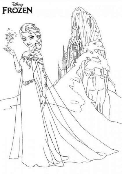 Dibujos De Frozen Para Colorear, Pintar E Imprimir  Anna, Elsa