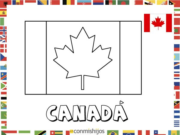 Bandera De Canadá  Dibujos De Banderas Para Pintar