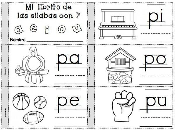 Letra P Silabas Pa, Pe, Pi, Po, Pu