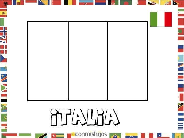 Bandera De Italia  Dibujos De Banderas Para Pintar