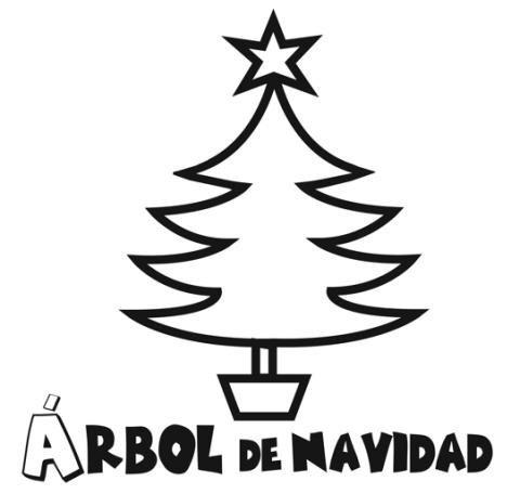 Dibujos De árbol De Navidad Gratis Para Colorear