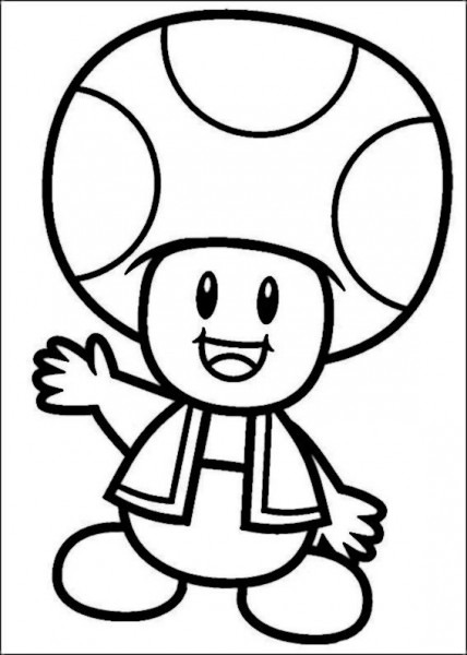 Mario Bros Coloring Pages For Kids 36