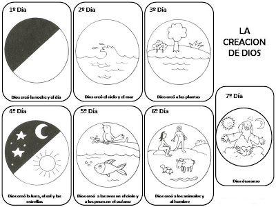 La Creacion De Dios Para Pintar ~ Dibujos Para Colorear Infantil