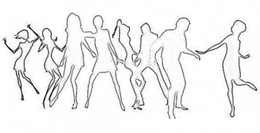 Colorear Gente Bailando