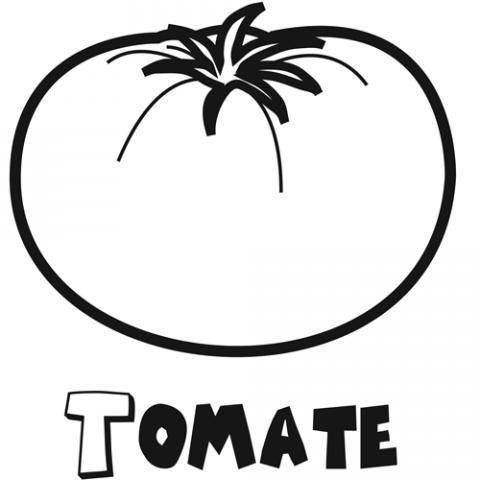 Dibujo De Tomate  Imágenes Infantiles De Fruta Y Verdura