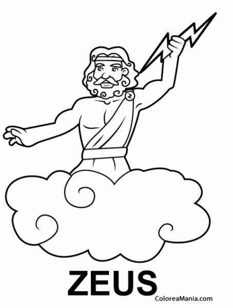 Colorear Zeus, Hijo De Cronos Y Rea 5 (mitología Griega), Dibujo