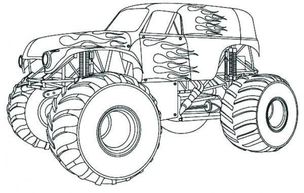 Monster Truck Para Colorear Imprimible Para Monster Truck A La