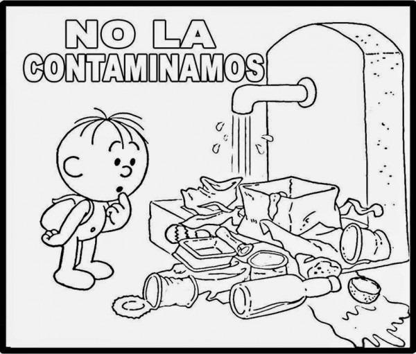 Dibujos Del Cuidado Del Agua Para Colorear El 22 De Marzo Día