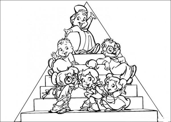 為孩子們的著色頁  Alvin Y Las Ardillas Para Colorear