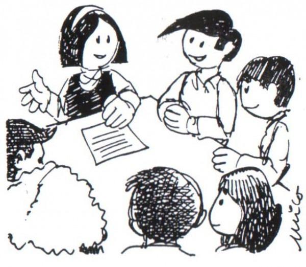 √ Dibujos De Personas Dialogando