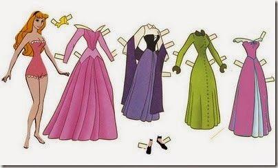 Princesas Disney Para Vestir, Recortables