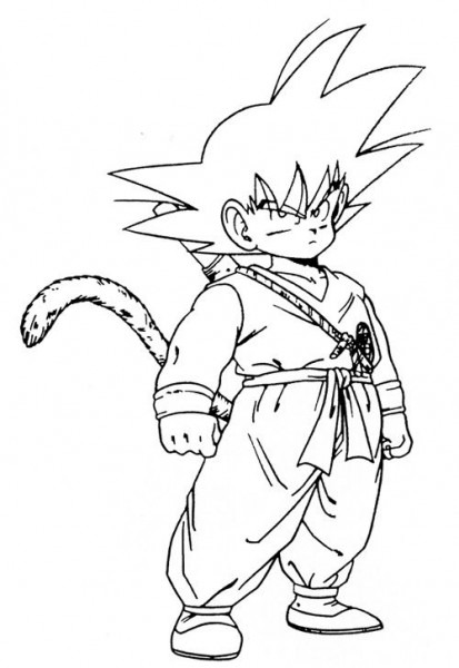 Dibujos Para Colorear Goku Fase 4