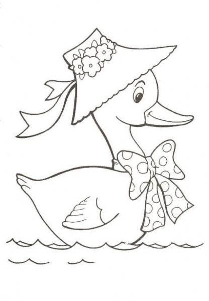 Dibujo De Patito En El Agua Para Colorear  Dibujos Infantiles De
