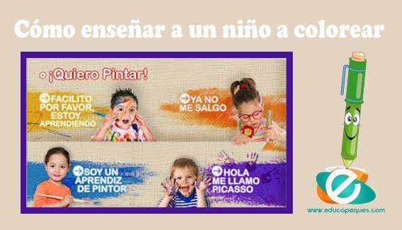 Enseñar Como Colorear A Un Niño  Beneficios De Colorear