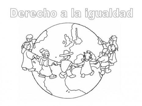 Dibujos Del Día Internacional De Los Derechos Humanos Para Pintar