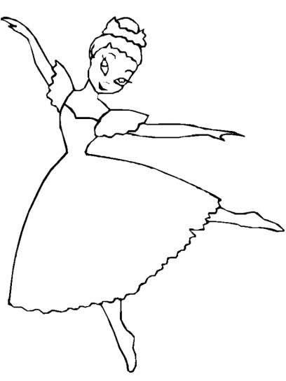 Dibujos De Bailarinas  Fotos Diseños Para Colorear (foto)