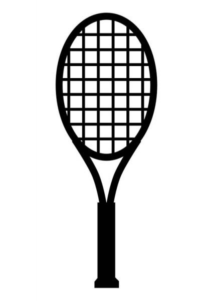 Dibujo Para Colorear Raqueta De Tenis