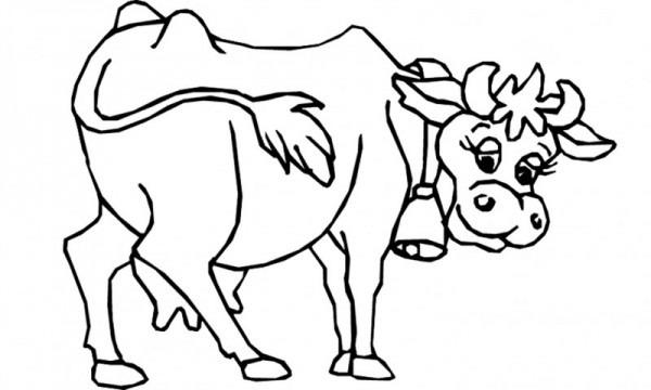 Dibujos De Vacas (para Colorear Y Pintar)