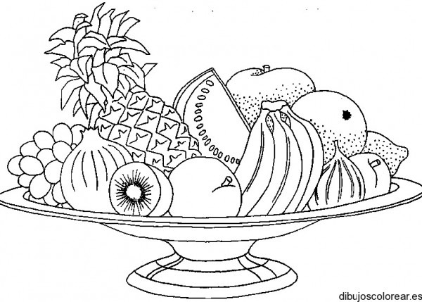 Dibujo De Ricas Frutas Para La Merienda