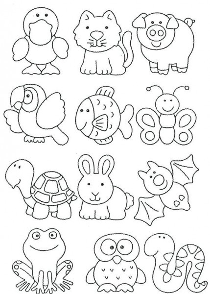 Dibujos Para Colorear De Animales Domesticos Y Salvajes