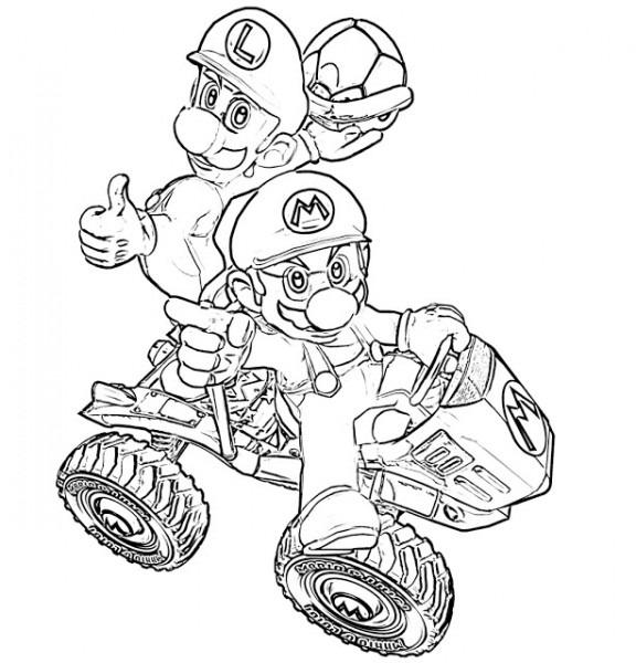 Mario Kart  11 (videojuegos) – Páginas Para Colorear